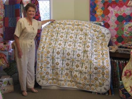 Jo & winning quilt