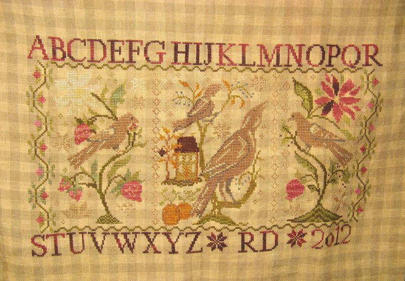Blackbird Cross Stitch Rosemary